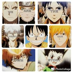 Anime characters; Photo Collage