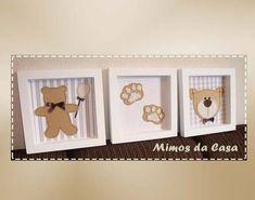 Quadro de Urso Trio   Mimos da Casa   Elo7