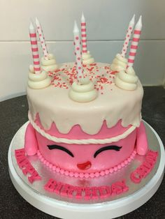 Shopkins cake #shopkins #shopkinscake #pinkcake