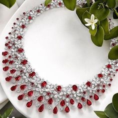 Graff Ruby and Diamond Necklace- | Gold Jewelry Rules Everything