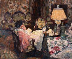 Le Tapis Fleurages, Madame Hessel dans son salon Saint-Jacut by Edouard Vuillard (France)