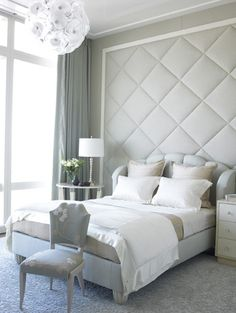 love the quilted wall