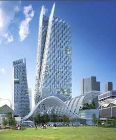 Leading-Edge Green Complex at Beach Road solar tower in Singapore by Norman Foster