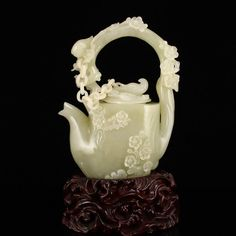 Buy online, view images and see past prices for Superb Hetian Jade Plum Flower & Magpies Handle Teapot. Invaluable is the world's largest marketplace for art, antiques, and collectibles. Tea Cup Saucer, Tea Cups, Cute Teapot, Ideas Prácticas, Plum Flowers, Pottery Teapots, Teapots And Cups, Tea Art, My Cup Of Tea
