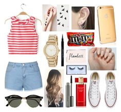 """""""It looks like a pretty girl"""" by dreamer-creations ❤ liked on Polyvore featuring DKNY, Ally Fashion, Converse, Ray-Ban, Otis Jaxon, Givenchy, MAC Cosmetics, Estée Lauder and Huda Beauty"""