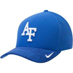 brand new 3a480 08cf1 Air Force Falcons Nike Sideline Coaches Swoosh Performance Flex Hat - Royal