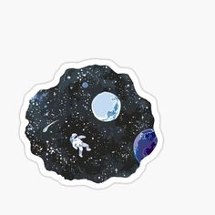 """""""space"""" Stickers by kaitlinisham Stickers Cool, Bubble Stickers, Printable Stickers, Laptop Stickers, Journal Stickers, Planner Stickers, Zebra Kunst, Images Kawaii, Doodles"""