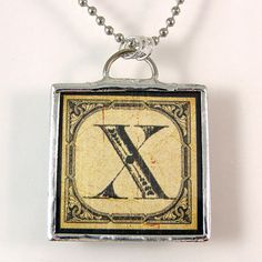 Letter X Initial Pendant Necklace by XOHandworks on Etsy $20