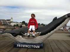 Every time we visit P-Town on our vacation, we always have to pose with this whale before we go on a whale watching tour.  I love P-Town!
