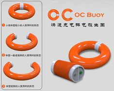 OC Buoy Lifesaver by Lie Su - The OC Buoy goes from thin to big in a jiffy making it appropriately sized for anyone. The idea is to provide the right tools for emergency services and this one executes it efficiently. Read more at http://www.yankodesign.com/2014/02/04/expanding-buoy/#y27p2SiVBqhgRkUt.99