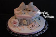 Vintage Hat Box Cake   French vintage hat box cake