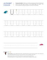 Uppercase U letter tracing worksheet, with easy-to-follow arrows showing the proper formation of the letter.