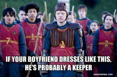 Funny Harry Potter Ron Weasley Keeper