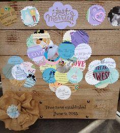 A way to make wedding cards into an adorable keepsake!