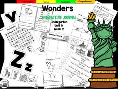 "This 27 page Kindergarten interactive journal is aligned to Common Core and to the McGraw Hill Wonders series for Unit 8-Week 2. Complete Set Includes:Mini Anchor Chart/Activities for Letter ""Yy"" and ""Zz"", Main Topic and Details,Genre (Informational)Handwriting PracticeCut and Paste Graphic Organizers  Build It!"