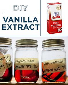 Soak vanilla beans in booze to make your own vanilla extract. | 30 Foods You'll Never Have To Buy Again