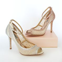 Sparkling foot candy that is as demure as it is dramatic. The newest wedding shoes ~ Badgley Mischka Shoes