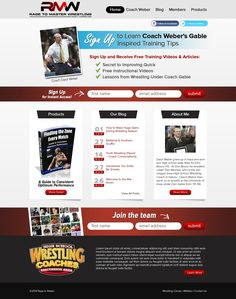 Landing Page for Wrestling Coach Members Site