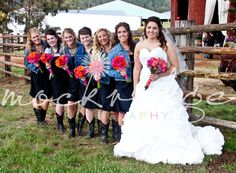 Country western wedding and boots!  Photo by Barb @MockridgePhotography