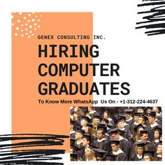 Hello,  We are now hiring Computer graduates with 0 to 1 year of experience.  Candidates willing to boost their IT career are encouraged to apply.  *Candidate must have valid US work authorization.We do provide W2 benefits to all our candidates.  Feel free to reach us out on WhatsApp - +1-312-224-4637 or email us on jobs@genexconsulting.com  #GenexJobs #Staffing #USA #Chicago #work #job #Informationtechnology #IT #cisco #networking #Citizenfirst #OPT #EAD #H1b #workvisa #W2 #consulting #career Cisco Networking, Work Visa, It Network, Job Opening, Information Technology, 1 Year, Career, Graduation, Encouragement