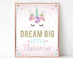 Unicorn Party Sign Believe in Unicorns Birthday Sign