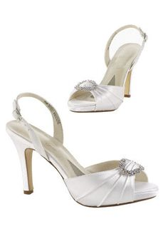 $59.99 - Dyeable - David's Bridal.. I also like these but David's Bridal cannot dye in lime green.. maybe i can find someone who can dye these?  I don't know how this works..