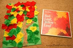 Red Leaf Yellow Leaf - a fun and easy Fall art project for preschoolers