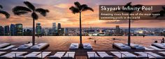 Sands SkyPark: Infinity Pool, Restaurants, Obervation Deck & Gift Shop, imagine swimming 54 stories up above Singapore!