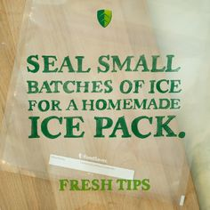 FoodSaver® Pint-Size Heat-Seal Bag are perfect for kids' lunches or simply keeping cool on a hot August day. Homemade Ice Pack, Fresher Tips, Ice Shavers, Vacuum Sealer, Toy Kitchen, Love Tips, Lunches, Meal Prep, Vacuums