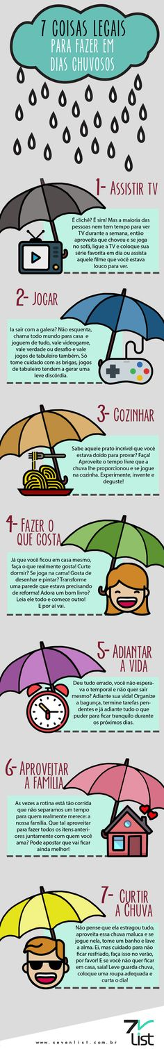 O mau tempo não pode estragar seus planos para os dias de folga tão aguardados, por isso o Seven List separou 7 coisas para fazer em dias chuvosos. Learning For Life, Light Of Life, Real Friends, Personal Development, Health And Wellness, Mental Health, Feel Good, Life Is Good, My Books