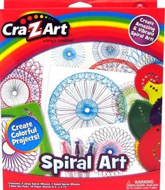 Cra-Z-Art Spiral Art Spiral art set is a set with wheels and frames that together create endless spiral designs! use the 3 gel pens to make the designs colorful! Fun Activities For Kids, Crafts For Kids, Arts And Crafts, Kids Fun, Vbs Crafts, Spiral Art, Spirograph, Z Arts, Kits For Kids