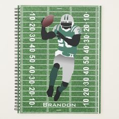 Football Player Design Weekly/Monthly Planner