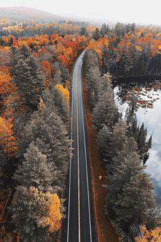 Road at autumn - Landscape - Travel Beautiful World, Beautiful Places, Beautiful Pictures, Beautiful Scenery, Amazing Places, Autumn Photography, Landscape Photography, Travel Photography, Autumn Aesthetic Photography