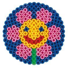 strijkkralen rond - bloem