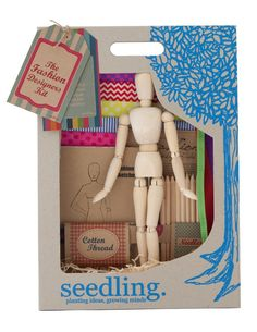 Seedling Fashion Designers Kit | Create your own fashion designs with this beautiful craft kit. #seedlingcraft #kidscraft #seedlingkids http://www.rainbowfun.com.au/assets/full/SDLNG_FASHION_D_KIT.jpg