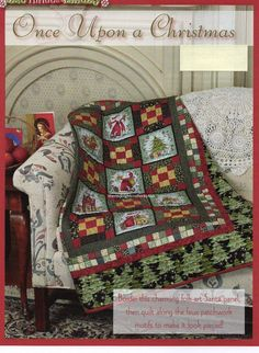 Once Upon A Christmas Quilt Pattern Pieced RH