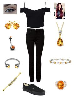 """Topaz/Citrine are a girls best friend"" by bsalvinski6364 on Polyvore featuring Bling Jewelry, New Look, T By Alexander Wang and Vans"