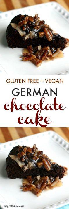 Decadent German chocolate cake  #Vegan #GlutenFree