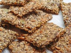 NUT AND SEED CRISPBREAD | Carb Wars Cookbooks