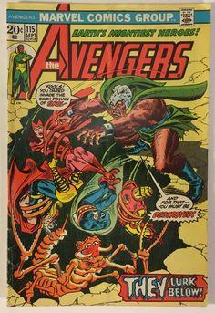 The Avengers #115 VG+ 20¢ Marvel Comics - Skol App. - Bronze Age 1973