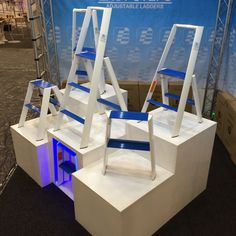 Easy Steps Adjustable Ladders @ HomeMakers Expo Cape Town. Setup complete, show starts tomorrow 27 August, till Sunday. Stand K14