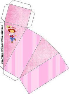 Strawberry Shortcake: Free Printable Boxes.