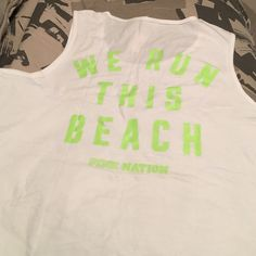 LIMITED EDITION PINK OVERSIZED TANK White muscle tank oversized. Limited edition. Brand new with tags PINK Victoria's Secret Tops Tank Tops
