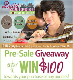 Enter to Win $100 Towards the Build Your Bundle - Homeschool Edition Sale - Up to 92% Off!