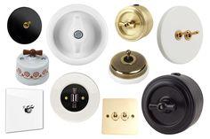 Où trouver des interrupteurs rétro ? | Madame Décore Farrow Ball, Barcelona Apartment, Toilet Design, Switch Plates, New Homes, Hardware, Tableware, Madame, Vintage