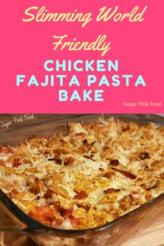 This delicious Fully Loaded Chicken Fajita Pasta Bake pasta a Mexican twist. Perfect low syn Slimming World friendly dinner! Slimming World Fakeaway Slimming World Fakeaway, Slimming World Dinners, Slimming World Chicken Recipes, Slimming World Recipes Syn Free, Slimming World Diet, Slimming Eats, Slimming World Treats, Slimming World Breakfast, Healthy Pasta Bake