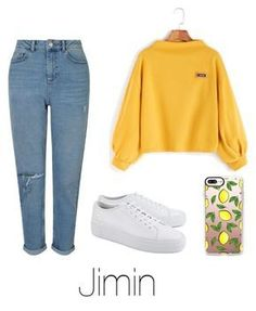 """Coffee with Jimin"" by infires-jhope ❤ liked on Polyvore featuring Miss Selfridge, Common Projects and Casetify"