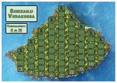 (3.lk -->) Seikkailu viidakossa « OuLUMA – Pohjois-Suomen LUMA-toiminnan foorumi - Pelaajien tavoitteena on löytää aarre saaren kolmesta (3–4 pelaajan pelissä) tai neljästä (kaksinpelissä) sarakkeesta. Samalla tutustutaan todennäköisyyteen.