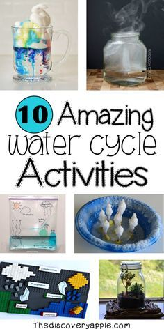 10 amazing water cycle activities and extra resources! 10 amazing water cycle activities and extra resources! Water Cycle Craft, Water Cycle For Kids, Water Cycle Project, Water Cycle Activities, Weather Activities, Kindergarten Activities, Preschool Activities, Water Cycle Experiments, Weather Experiments