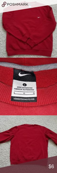f20bd2d61a79 Vintage Nike sweatshirt Size LG red vintage Nike sweatshirt is gently used  with no notable stains